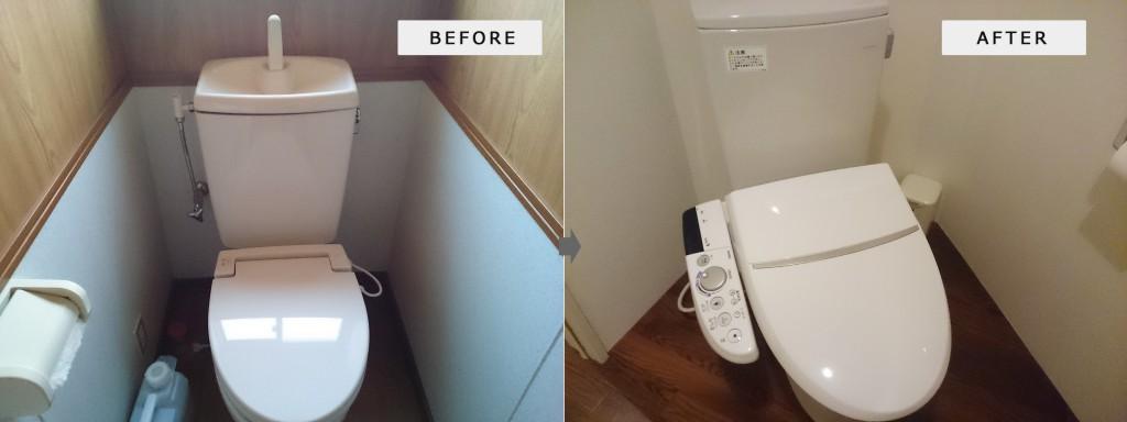 トイレの便座取り換えついでに脱衣室とトイレをリフォーム